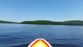 Paddleboarding på en sjö i Kanada Royaltyfri Bild