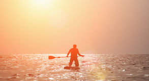 Paddleboarding Royalty Free Stock Photography