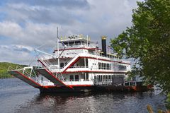Paddleboat, the Avalon on St.Croix River stock photography