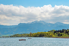 Paddleboat on Chiemsee Royalty Free Stock Photography