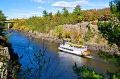 Paddleboat, outono fotos de stock