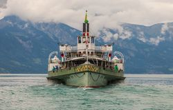 Paddleboat in Switzerland stock photo