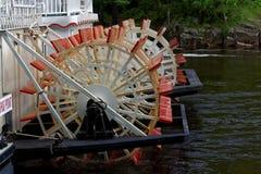 Paddleboat wheels at Taylors Falls, Minnesota royalty free stock image