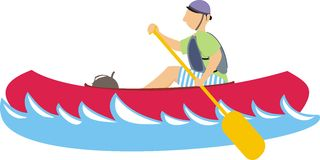 Paddler in a kayak Royalty Free Stock Photography