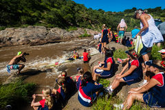 Paddler Rapids Media Supporters Dusi Stock Photo