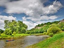 Paddlers de River Valley photos libres de droits