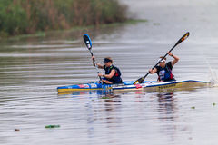 Paddlers Sisters Dusi Canoe Race Stock Photography