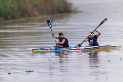 Paddlers Sisters Dusi Canoe Race Stock Photography
