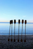 Paddles in the sand Stock Photography