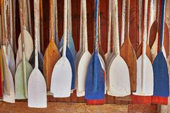 Paddles In Storage Royalty Free Stock Images