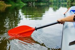 Paddles for white water rafting stock images