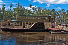 Paddlesteamer P.S. Pride of the Murray  in Echuca Stock Images