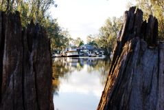 Paddlesteamers at Echuca Moama on the Murray Royalty Free Stock Images