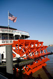Paddlewheel. On the rear of a river boat on the Mississippi River at New Orleans Royalty Free Stock Photo