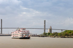 Paddlewheel Boat Cruise on Savannah River Stock Photos