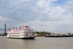 Paddlewheel Boat Cruise on Savannah River Royalty Free Stock Photos