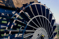 Paddlewheel of a historic Dutch windmill from close Royalty Free Stock Photo