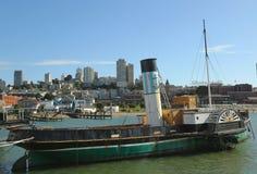 Paddlewheel Tug boat Eppleton Hall in San Francisco Maritime National Historical Park Royalty Free Stock Photo