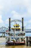 Paddlewheeler Creole Queen in the Port of New Orleans Stock Photos