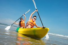 Paddling Royalty Free Stock Photo
