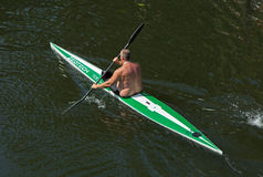 Paddling fellow Royalty Free Stock Photography