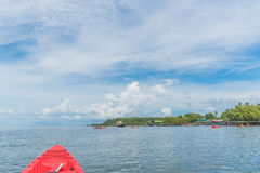 Paddling a kayak on andaman sea Stock Images