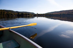 Paddling on the lake. Paddling on the Carpenter lake, Canada Stock Image