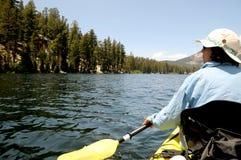 Paddling on Lake Mary Stock Photo