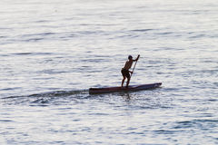 Paddling Ocean Ski Craft Stock Photography