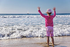 Paddling in the ocean Stock Photography