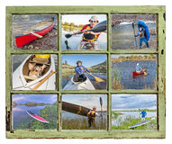 Paddling vacation concept Stock Photo