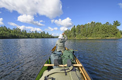 Paddling on a Wilderness Lake Stock Images