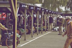The paddock of Goodwood Revival Royalty Free Stock Images