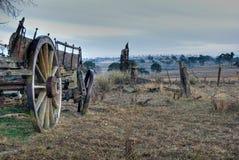 Paddock and old cart royalty free stock photos