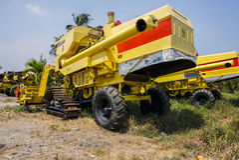 Paddy harvest machine Stock Photos