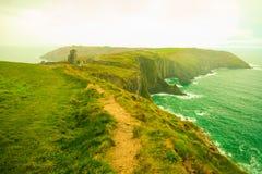 paddy krajobrazu Linia brzegowa oceanu wybrzeża atlantycka sceneria Obrazy Royalty Free