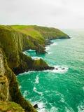 paddy krajobrazu Linia brzegowa oceanu wybrzeża atlantycka sceneria Obraz Stock