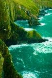 paddy krajobrazu Linia brzegowa oceanu wybrzeża atlantycka sceneria Zdjęcia Royalty Free