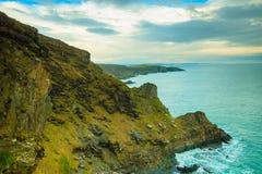 paddy krajobrazu Linia brzegowa oceanu wybrzeża atlantycka sceneria Fotografia Royalty Free