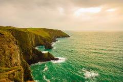 paddy krajobrazu Linia brzegowa oceanu wybrzeża atlantycka sceneria Obrazy Stock