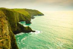 paddy krajobrazu Linia brzegowa oceanu wybrzeża atlantycka sceneria Zdjęcia Stock