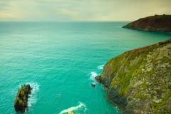 paddy krajobrazu Linia brzegowa oceanu wybrzeża atlantycka sceneria Obraz Royalty Free