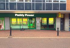 Paddy Power bookmakers shop. Stock Image