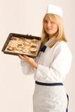 Padeiro com biscoitos do Natal Fotos de Stock Royalty Free