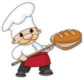Padeiro com pão ilustração do vetor