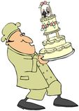 Padeiro do bolo de casamento Fotografia de Stock