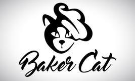 Padeiro do gato - logotipo Fotografia de Stock Royalty Free