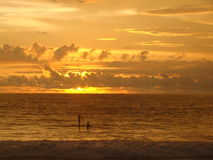 Padel в заходе солнца Стоковые Фотографии RF
