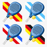 Padel flags Royalty Free Stock Photo