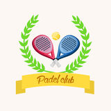 Padel klub Fotografia Royalty Free